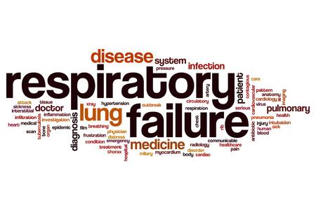 communicable: Respiratory failure word cloud concept