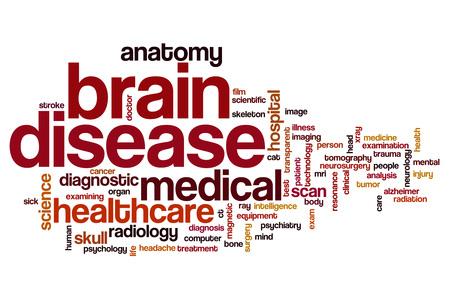 brain disease: Brain disease word cloud concept
