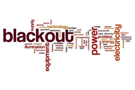 blackout: Blackout word cloud concept Stock Photo