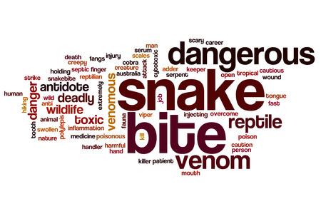 cytotoxic: Snake bite word cloud concept Stock Photo