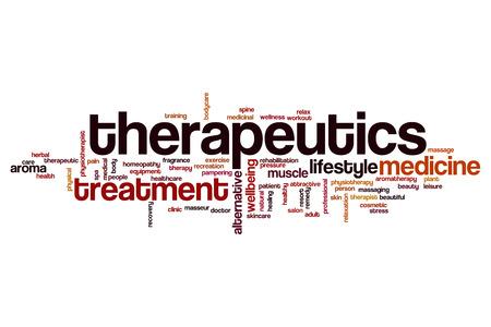 therapeutics: Therapeutics word cloud concept