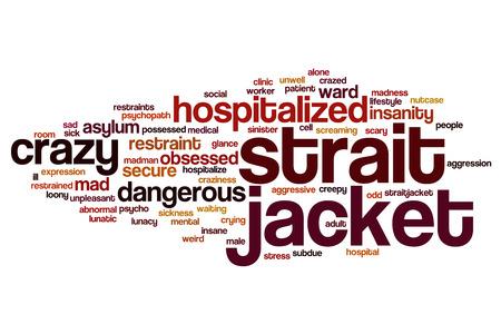 restraint: Strait jacket word cloud concept