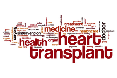 transplant: Heart transplant word cloud concept