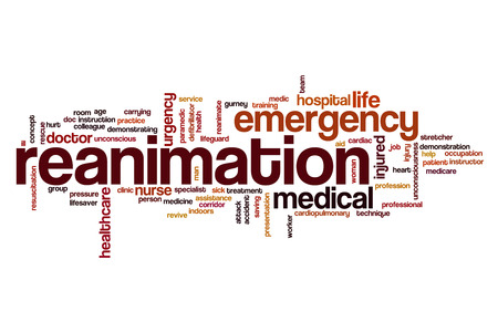 Reanimation word cloud concept Stock Photo