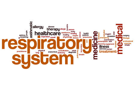 Respiratory system word cloud concept