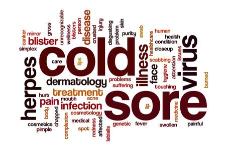labialis: Cold sore word cloud concept