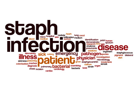 virulence: Staph infection word cloud concept