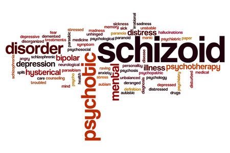 hallucinations: Schizoid word cloud concept Stock Photo