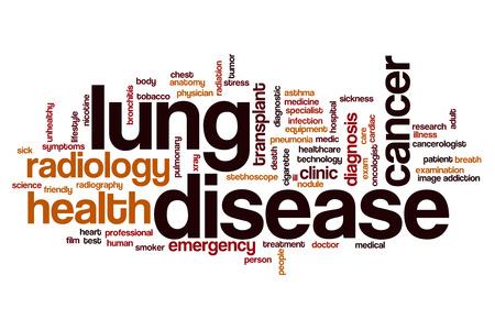 lung disease: Lung disease word cloud concept