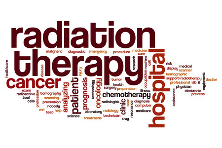 radiation therapy: Radiation therapy word cloud concept Stock Photo