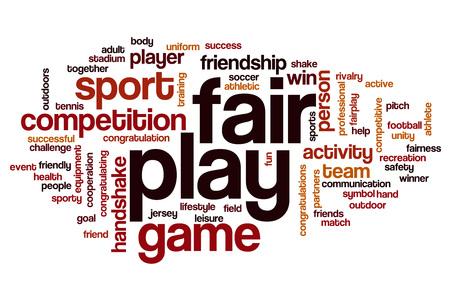 fair play: Fair play word cloud concept