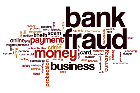 bank robber: Bank fraud word cloud concept Stock Photo