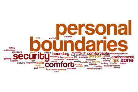 Personal boundaries word cloud concept