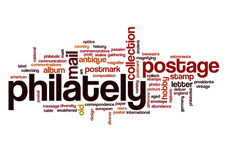 Philately word cloud concept