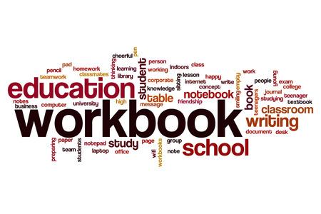 workbook: Workbook word cloud concept
