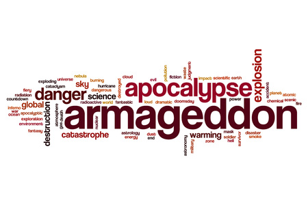 armageddon: Armageddon word cloud concept Stock Photo