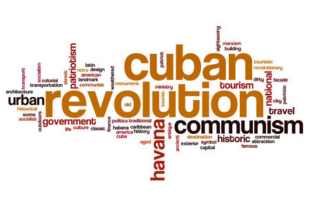 revolution: Cuban revolution word cloud concept