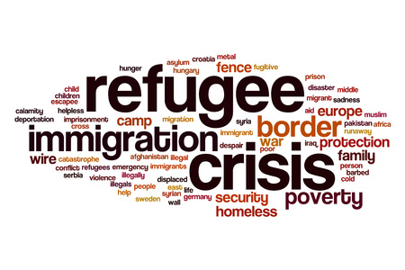 illegals: Refugee crisis word cloud concept