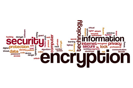 encryption: Encryption word cloud concept