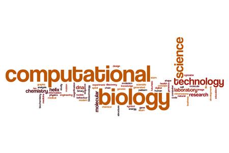 computational: Computational biology word cloud concept
