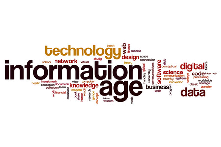 information age: Information age word cloud concept