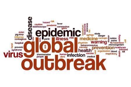 swine flu vaccine: Global outbreak word cloud concept Stock Photo