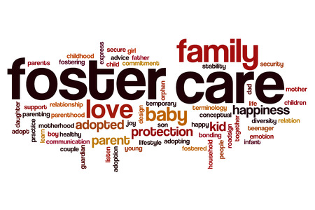 Foster care word cloud concept