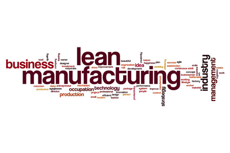 lean machine: Lean manufacturing word cloud concept Stock Photo