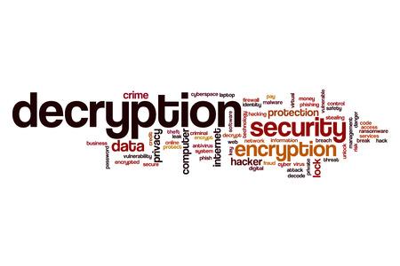 decryption: Decryption word cloud concept