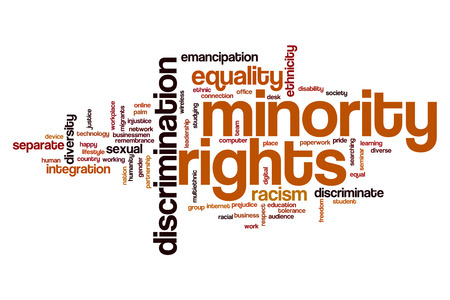 Minority rights word cloud concept Stock Photo