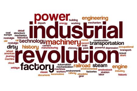 revolución industrial concepto de nube de palabras