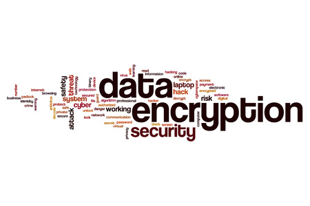 encryption: Data encryption word cloud concept