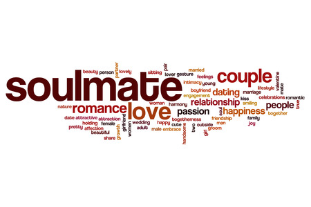 soulmate: Soulmate word cloud concept Stock Photo