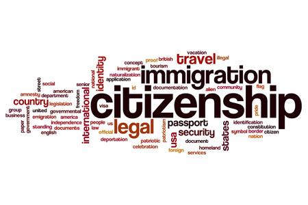 citizenship: Citizenship word cloud concept