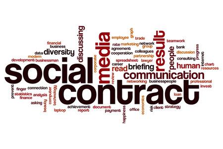 hoja de calculo: Contrato social concepto de nube de palabras