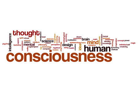 Consciousness word cloud concept