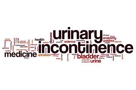 sphincter: Urinary incontinence word cloud concept Stock Photo