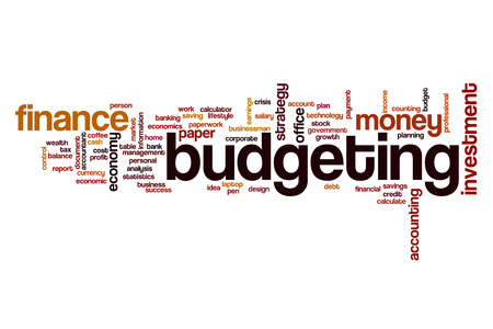 budgeting: Budgeting word cloud concept