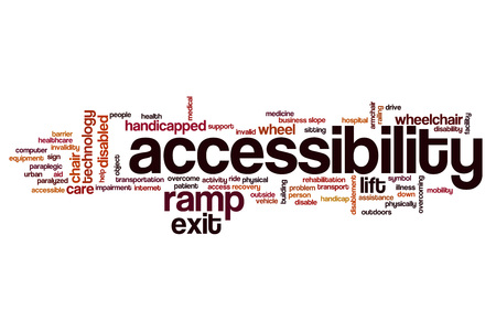 accessibility: Accessibility word cloud concept Stock Photo