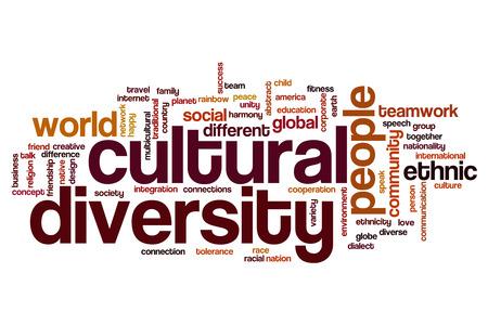 diversidad cultural: La diversidad cultural concepto de nube de palabras Foto de archivo