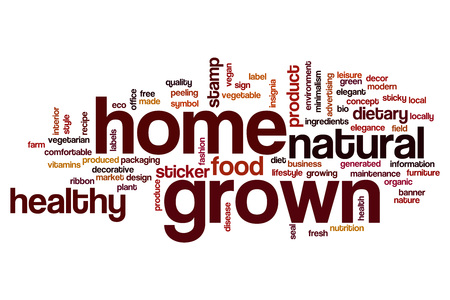 grown: Home grown word cloud concept