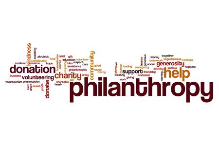 Philantropy word cloud concept Stock Photo