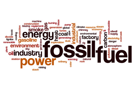 fossil fuel: Fossil fuel word cloud concept