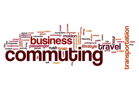 commuting: Commuting word cloud concept
