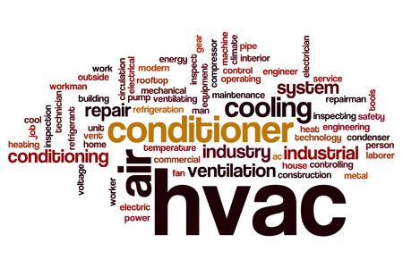 HVAC 단어 구름 개념