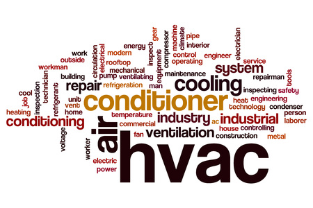 HVAC word cloud concept