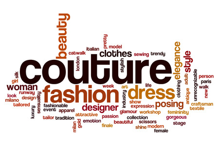 couture: Couture word cloud concept Stock Photo