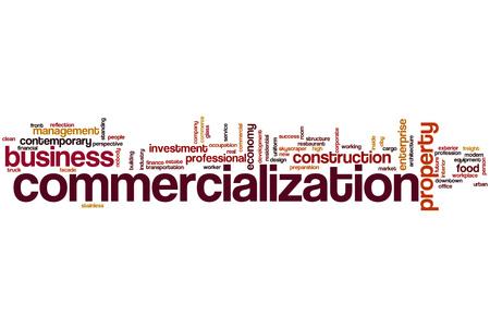 commercialization: Commercialization word cloud concept