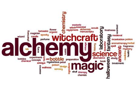 alchemy: Alchemy palabra concepto de la nube Foto de archivo