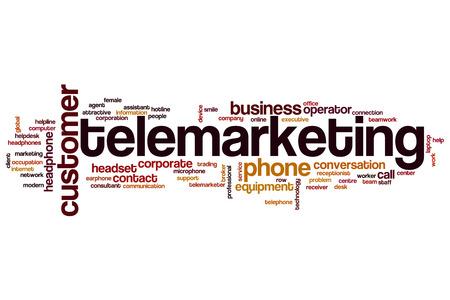 telemarketing: Telemarketing word cloud concept